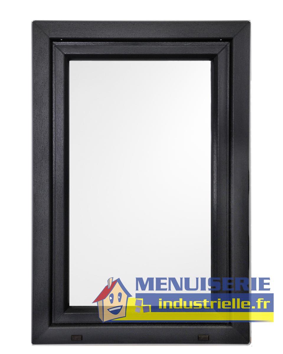 Fen tre 95 x 60 cm pvc 1 vantail couleur anthracite pas ch re sarl michel b ze et fils for Fenetre pvc 50 x 60