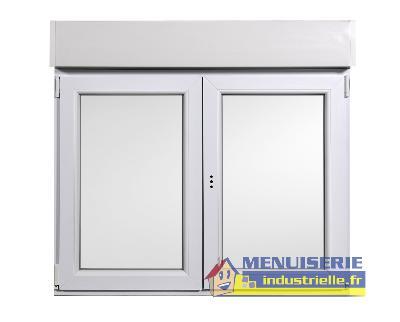 Fenêtre 125x120 Cm Pvc Oscillo Battante Avec Volet Roulant Manuel