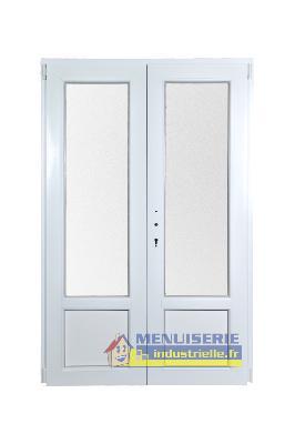 Porte Fenêtre Hauteur 195 Cm X Larg 120 Cm Pvc 2 Vantaux Sarl