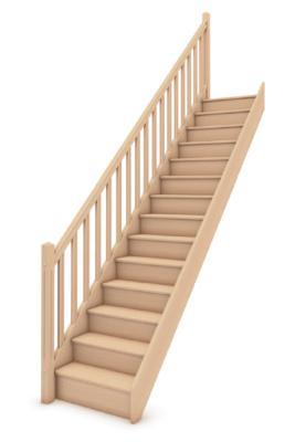 escalier droit en ch ne sans rampe sarl michel b ze et fils. Black Bedroom Furniture Sets. Home Design Ideas