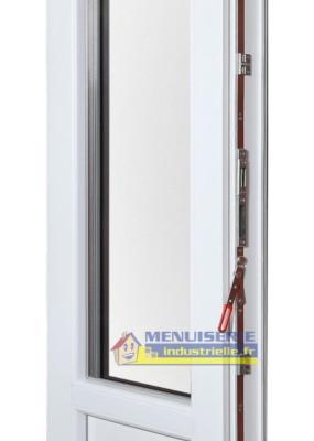Porte Fenêtre Pvc Haut 205 Cm X Larg 120 Cm 2 Vantaux Avec Volet