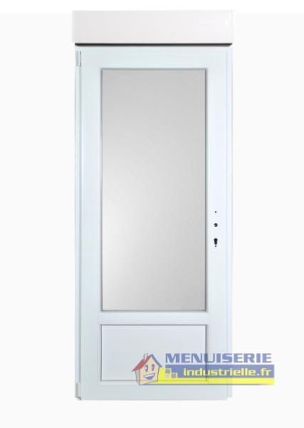 Porte Fenêtre Haut 205 Cm X Larg 90 Cm Pvc Avec Volet Roulant électrique