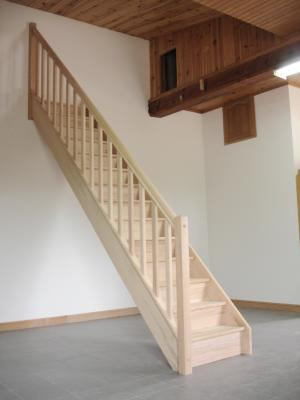 escaliers droits en chêne avec rampe: sarl michel bèze et fils